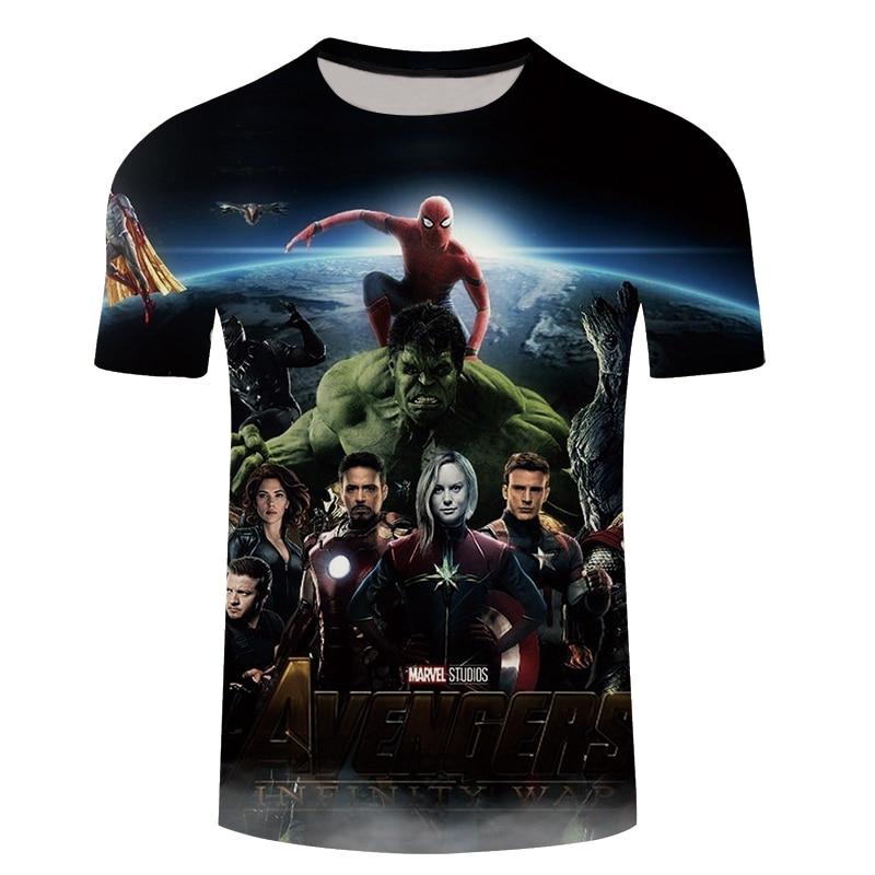 3D T-shirts Men Clothes 2018 Avengers 3D Print Summer Streetwear Casual Short Sleeve Tees Shirt Top Fitness 5XL