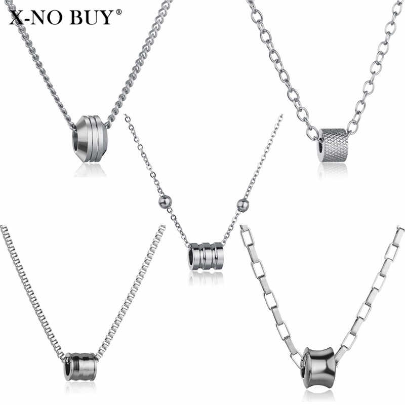 Women Stainless Steel Beads Shape Pendant Necklace Ethnic Bohemian Choker Chain Necklace Collares Jewelry Kolye Collier