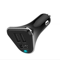 100 Genuine Brand Universal 3 Port Car Charger USB Car Charger 2 4A Plug Adapter For