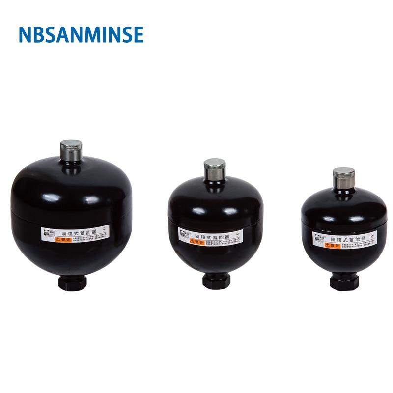 NBSANMINSE Diaphragm Accumulator GXQ 0 16 0 25L 36Mpa High Pressure Vessel Agriculture Machine Milling Accumulator in Pneumatic Parts from Home Improvement