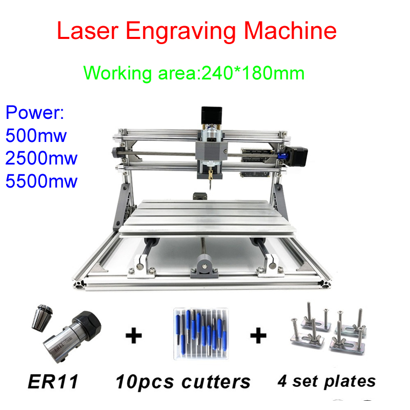 500mw/2500mw/5500mw CNC engraving machine Pcb Milling Machine Wood Carving machine LY-2418 with GRBL control500mw/2500mw/5500mw CNC engraving machine Pcb Milling Machine Wood Carving machine LY-2418 with GRBL control