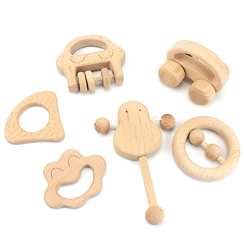 Infant And Toddler Toys | Infant & Toddler Montessori Materials Intellectual Children Toys Sets Nursing Wooden Rattles Baby Fun And Interesting Baby Toys
