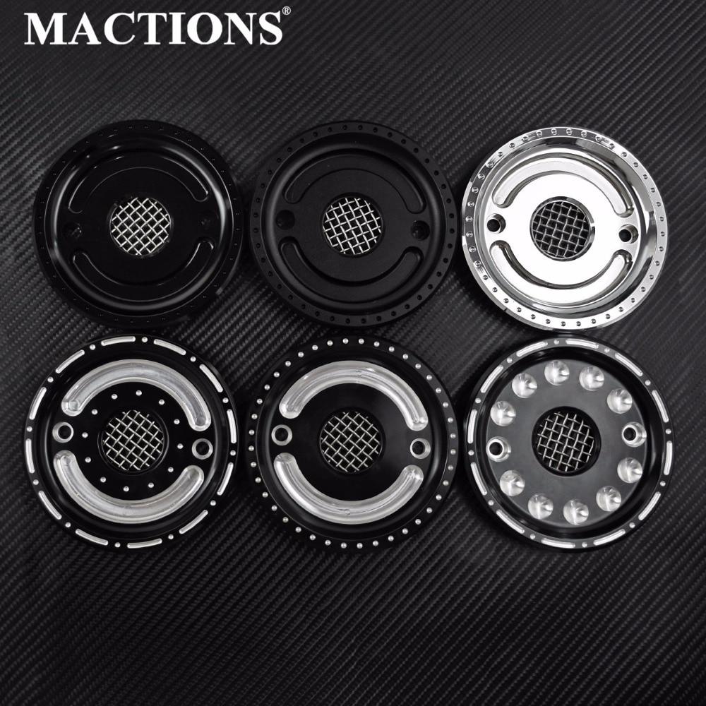 Крышка шкива MACTIONS с сетчатым потайным валом передняя крышка шкива черный хром для Harley Sportster XL 2004-2015 2016 2017 2018