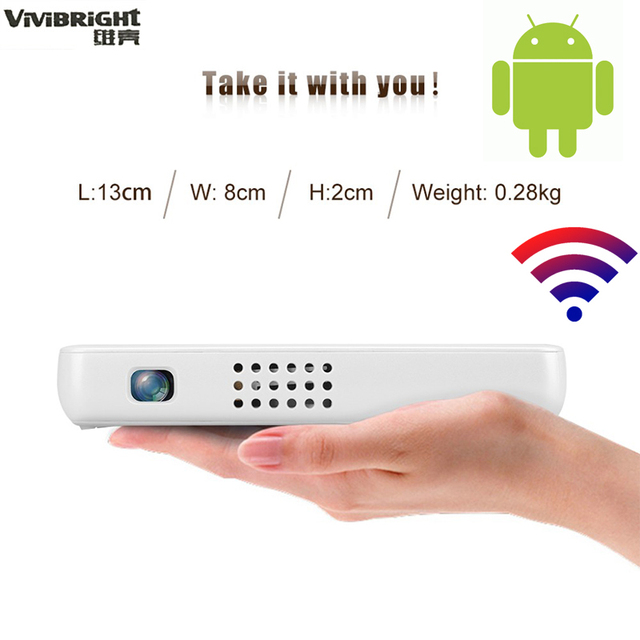 ViViBright GP1S_OS 2500 mah Battery DLP Projector Set in Android ...