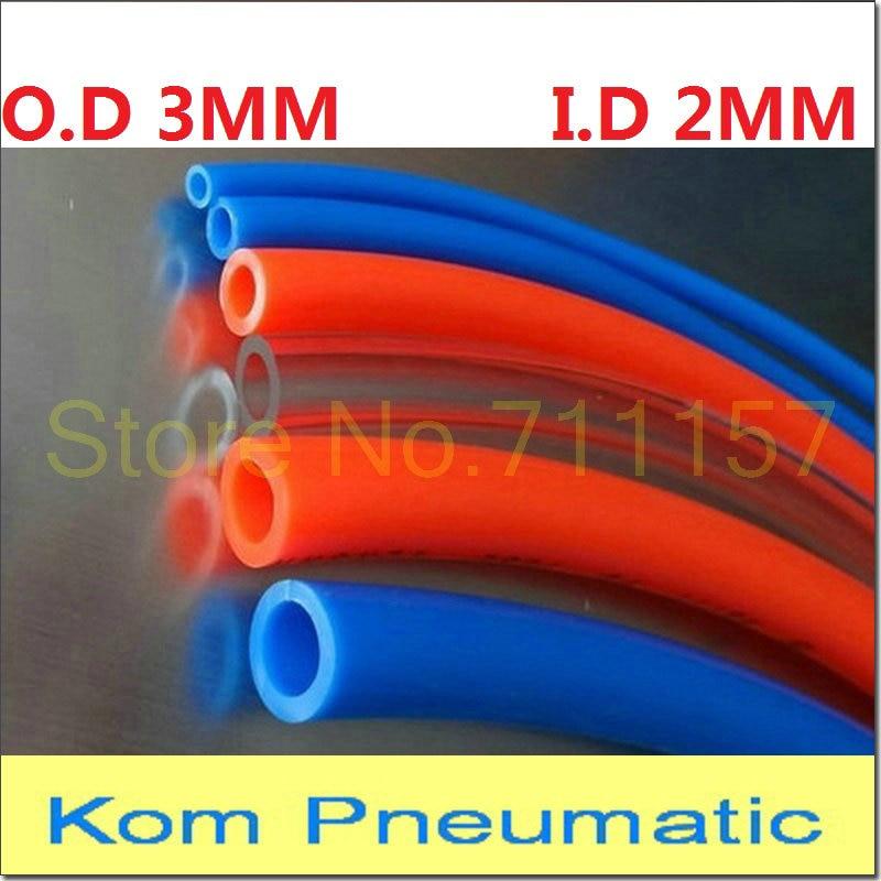 1 метр Пневматический воздушный шланг, полиуретановая трубка OD 3 мм ID 2 мм, Пластиковая Гибкая Трубка PU3 * 2, Полиуретановая трубка