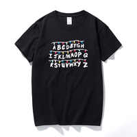 Hommes t-shirts mode 2017, étranger choses hommes T-shirt 2017 coton à manches courtes hommes mode chemise hauts t-shirts hommes