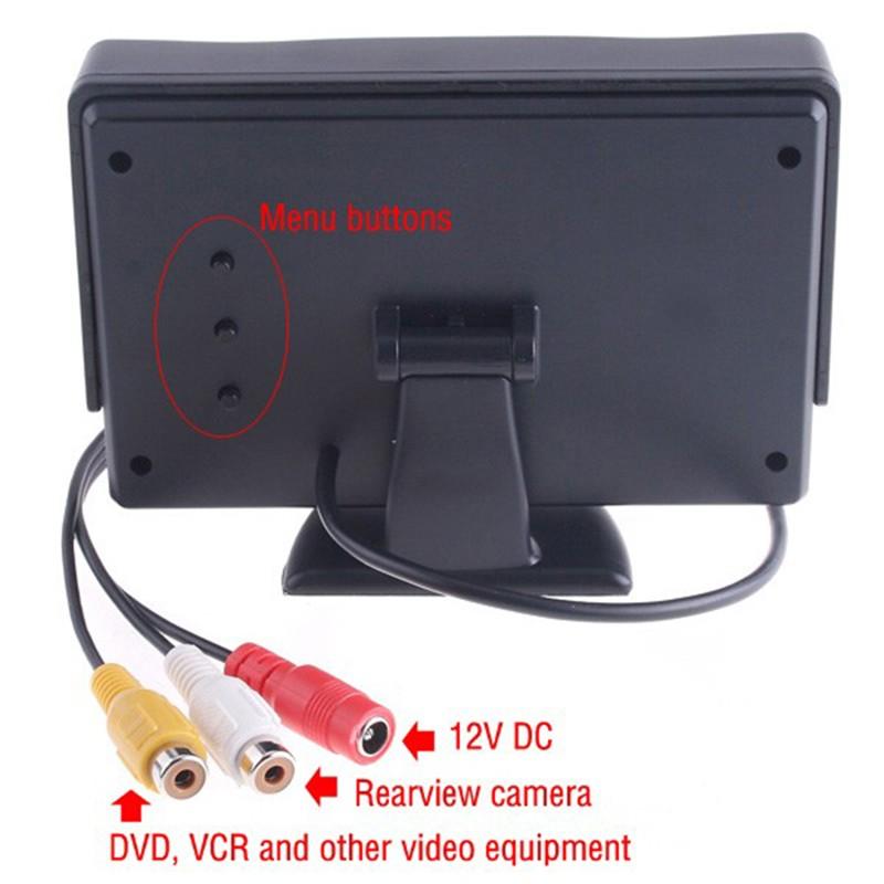 4.3 дюймов автомобильный монитор автомобиля цветной экран TFT жк-монитор заднего вида подключите проигрыватель VCD/проигрыватель DVD/GPS/для автомобиля заднего парковка камеры и т. д