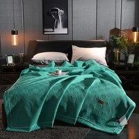 Однотонное мягкое Стёганое одеяло покрывало на кровать одеяло пододеяльник моющееся одеяло ed взрослые решетки шаблон постельные принадле...