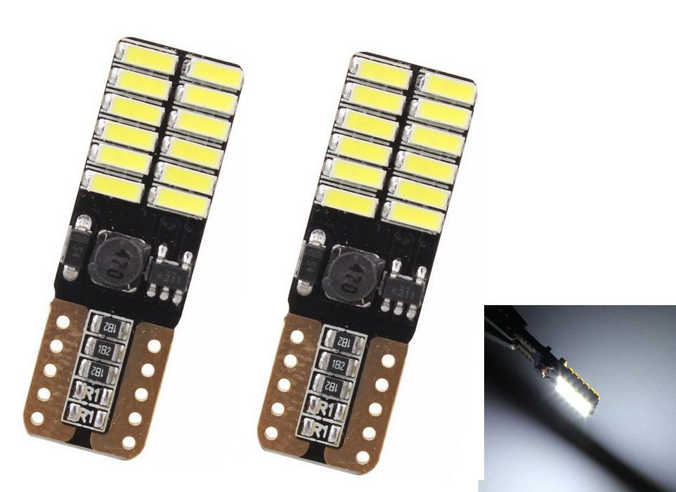 T10 LED W5W 194 24-8W 3030 6000K Cars From Canbus Light-Emitting Diodes Independent 8 Led Bulb No Errors Univ era Auto Lamp
