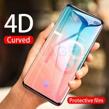4D โค้งป้องกันฟิล์มสำหรับ Samsung Galaxy S8 S9 S10 Plus lite หมายเหตุ 8 9 S7Edge เต็มหน้าจอ protector s10 Plus ฟิล์ม