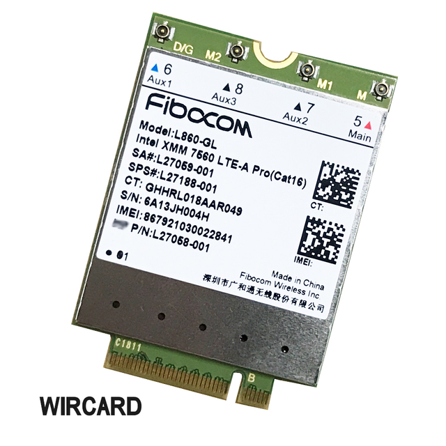 L860-GL FDD-LTE TDD-LTE Cat16 4G Module  4G Card SPS#L27188-001 4G Card For HP laptop