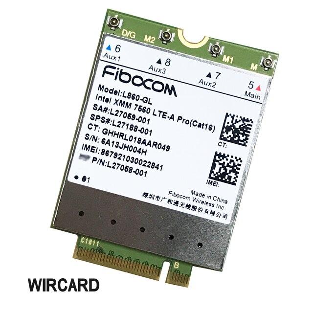 Miwaimao L860-GL FDD-LTE TDD-LTE Cat16 4G Module 4G Card SPS#L27188-001 4G Card for HP Laptop