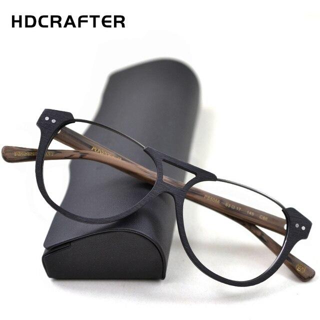 HDCRAFTER montures de lunettes de Prescription pour hommes, pour myopie, monture de lunettes, pour femmes, pour Grain de bois