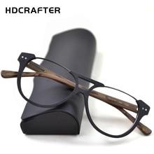 HDCRAFTER okulary korekcyjne ramki mężczyźni okulary dla osób z krótkowzrocznością rama z drewna ziarna optyczne okulary rama dla kobiet oprawki okularowe
