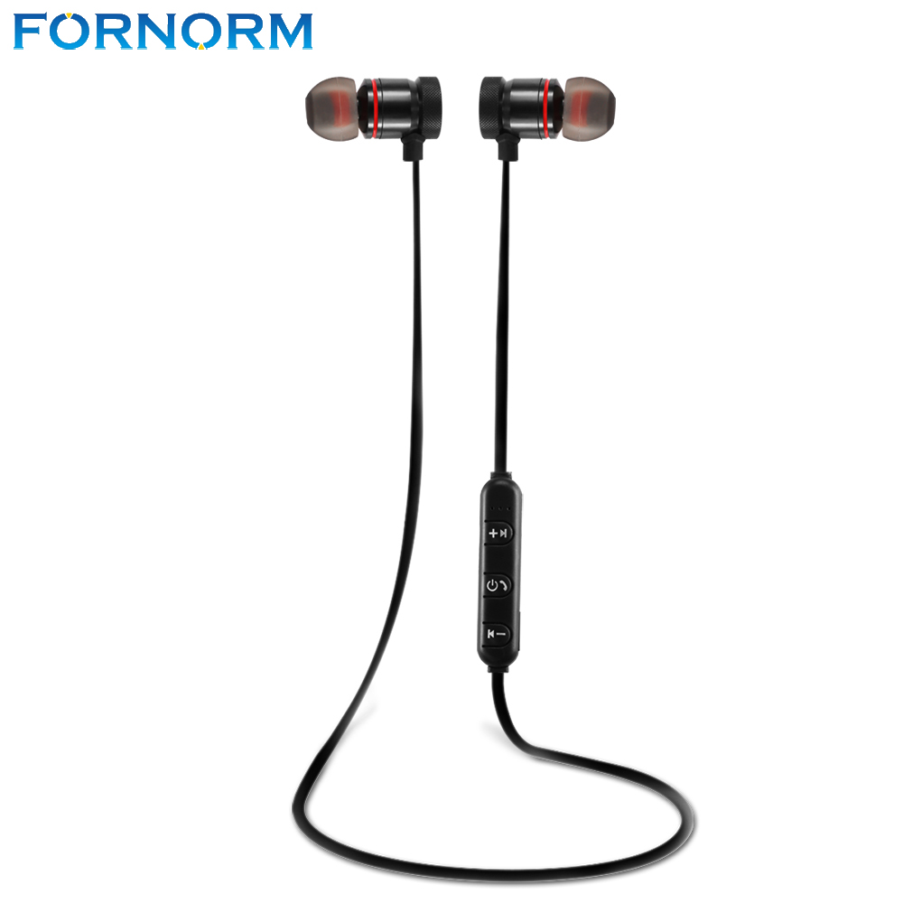 FORNORM Bluetooth 4.0 Wireless Headset Sports Earphones In