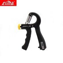 CIMA Adjustable Hand Grip Strengthener Counter Black Finger Gym Muscle