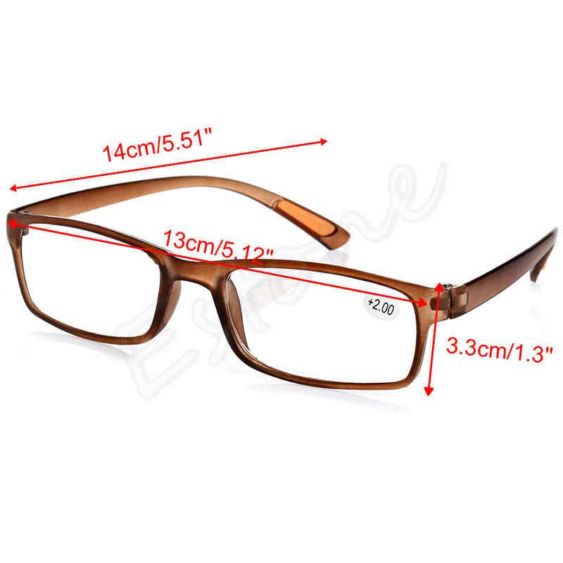 ใหม่ผู้หญิงผู้ชายเรซิ่นกรอบแว่นตาอ่านหนังสือ + 1.00 1.50 2.00 2.50 3.00 3.50 4.00 Diopter