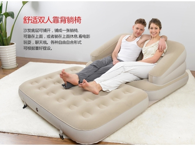 Pleasing Us 136 0 5 In 1 Sofa Inflatable Air Sofa With Inflation Pump 205 164 66Cm Repair Patch Carry Bag Inflatable Mattress Air Mattress In Living Room Machost Co Dining Chair Design Ideas Machostcouk