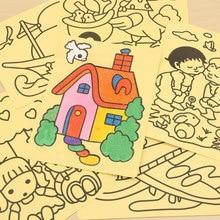 5 шт./лот, рисование цветным песком, игрушки для рисования на выбор, стиль для мальчиков и девочек, для детей, цветной ing, сделай сам, для обучения, образования, цветные художественные карты