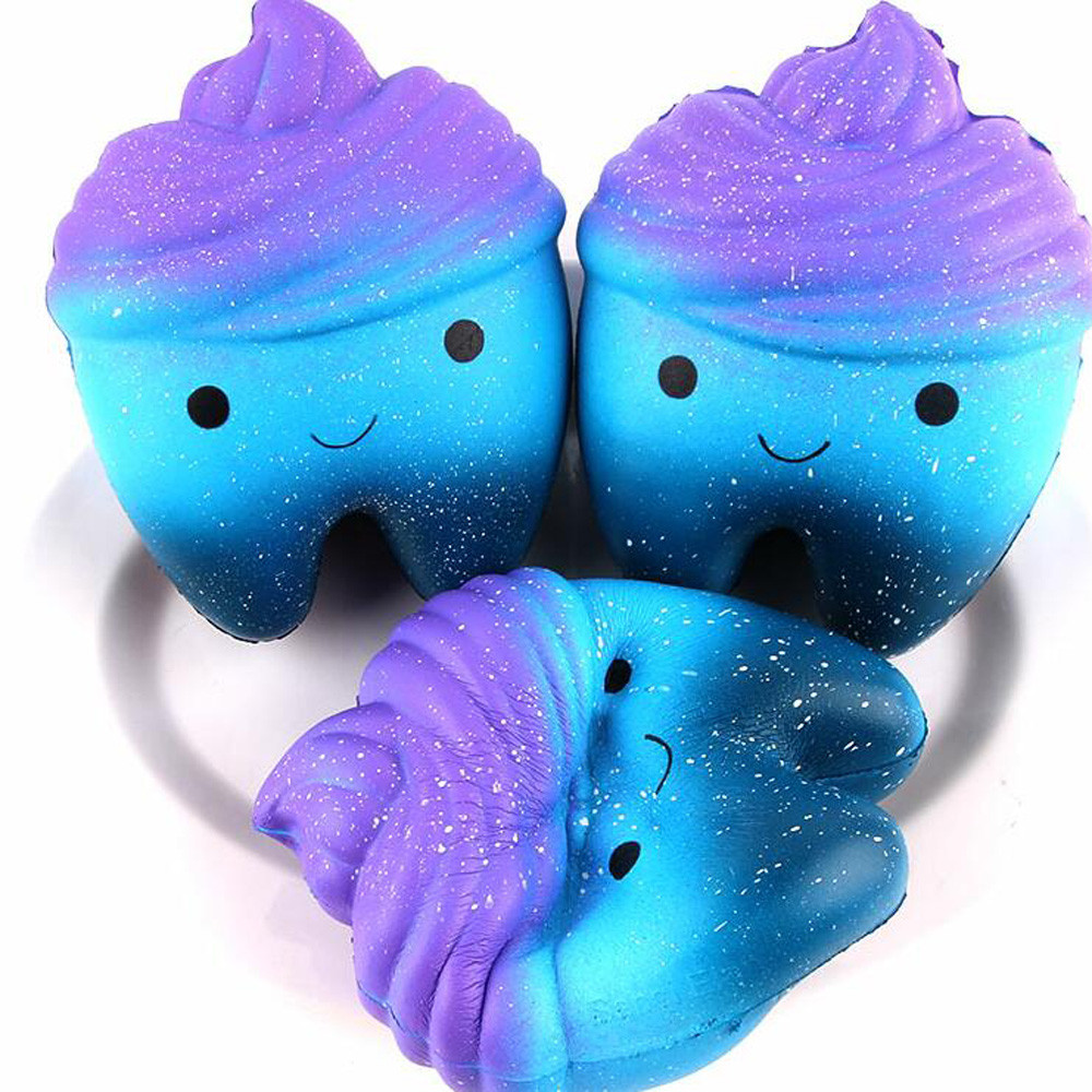 Tooth Cake Squeeze Slow Rising Fun Toy Relieve Stress Cure Gift toy collections cellphone straps Nice Gift for Friends