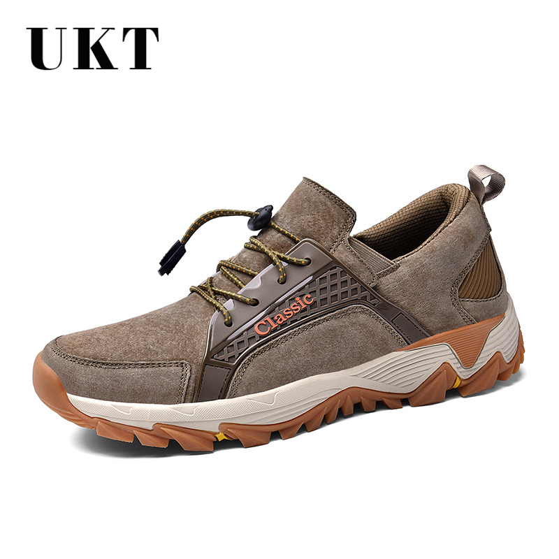 Genuine Leather Casual Shoes Men Spring and Autum Light Massage Male Adult Sneakers Breathable Lace up