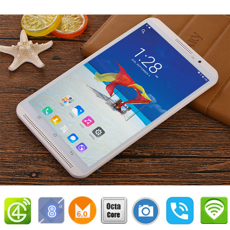 CARBAYTA 8 inch tablet pc Android 6.0 octa core  16GB Dual SIM Bluetooth GPS 800×1280 IPS Smart Google tablets pcs M1S 4G LTE