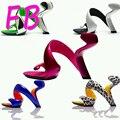 Mojito Sin Talón zapatos de Tacón Alto Zapatos de Vestir Sandalias de La Mujer de La Novedad De Moda Bombea Los Zapatos de Boda Cuña Casco Abierto Dedos de Los Pies Zapatos de Matrimonio