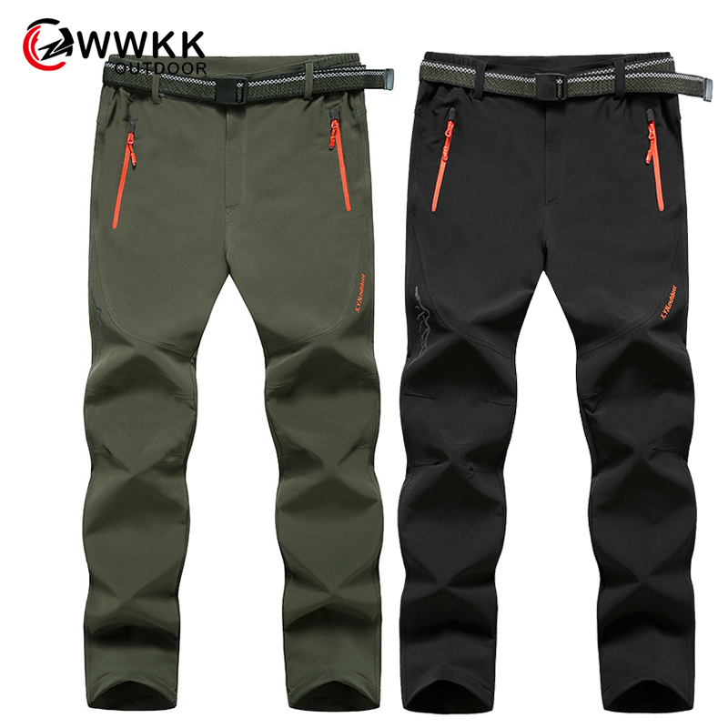 Outdoor Hiking Pants Rain Pants Men Walking Quick Dry Breathable Pant Mountaineering Travel Bike Riding Rain Waterproof Trousers