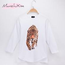 цены 2019 Fashion Nova Children T-shirt Beast Of Prey Leopard Panther 3D Print Cotton Full Long Boys T Shirts Girl Tops Free Shipping