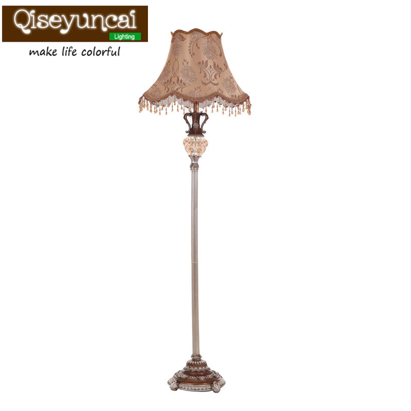 Qiseyuncai American retro living room floor lamp creative coffee table vertical study bedroom garden bedside floor lamp