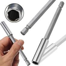 цена на 1/4'' Hex Shank Magnetic Screwdriver Bit Holder Screwdriver Extension Bit 60/75/100/150mm Socket Extension Bar