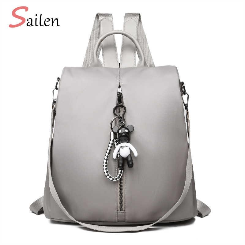 d156ea6cc29 Новая сумка водостойкий Оксфорд женский рюкзак на молнии школьные сумки для  подростков девочек маленький рюкзак женский