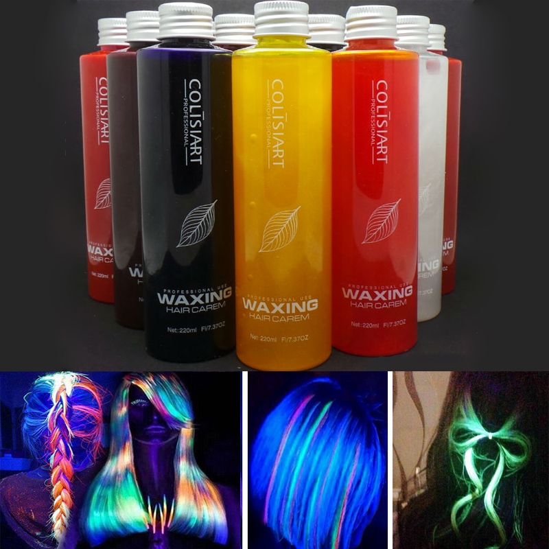 Korean Popular 5D Fluorescence Hair Color Styling Cream Colored Wax Hair Color Hair Dye wax Soft