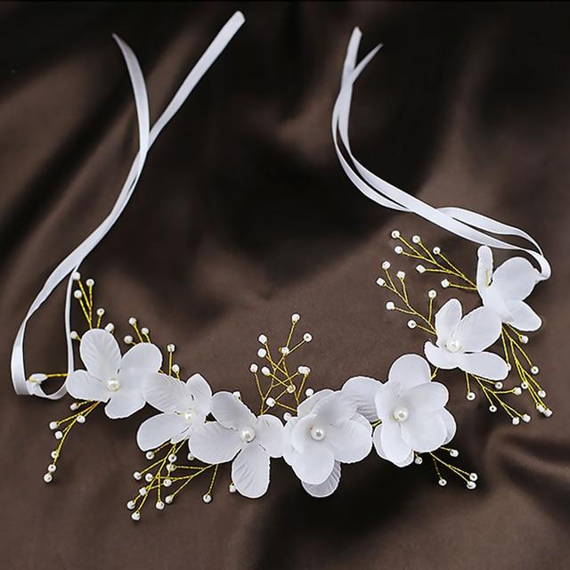 Новое поступление цветочная жемчужная гирлянда для невесты свадебная цветочная корона повязка на волосы бесплатная доставка SL