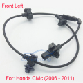 Front Left ABS Sensor for Honda Civic (All) 2006-2011 57455-SNA-003 Driver ABS Wheel Speed Sensor With CE Certificate
