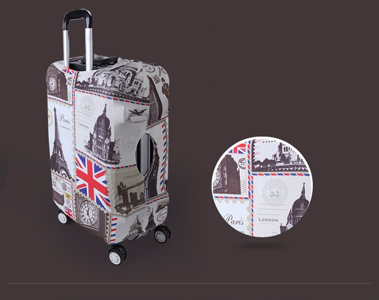 TRIPNUO Thicker Blue City Luggage Cover Travel Suitcase Protective Cover for Trunk Case Apply to 19''-32'' Suitcase Cover 10