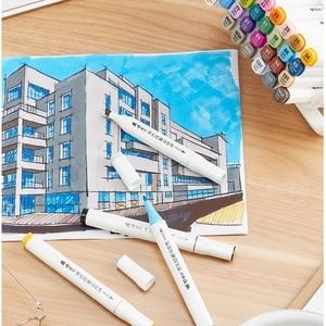 Image 5 - שני טיפ מגע כתיבה 12/18/24/36 צבעים אמנות סמן סקיצה עט סט עבור ציור מנגה אנימציה אמן אלכוהול מבוסס מברשת F556