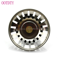 New Stainless Bathroom Sink Basin Drainer Strainer Drain Waste Plug Stopper S08 Drop ship