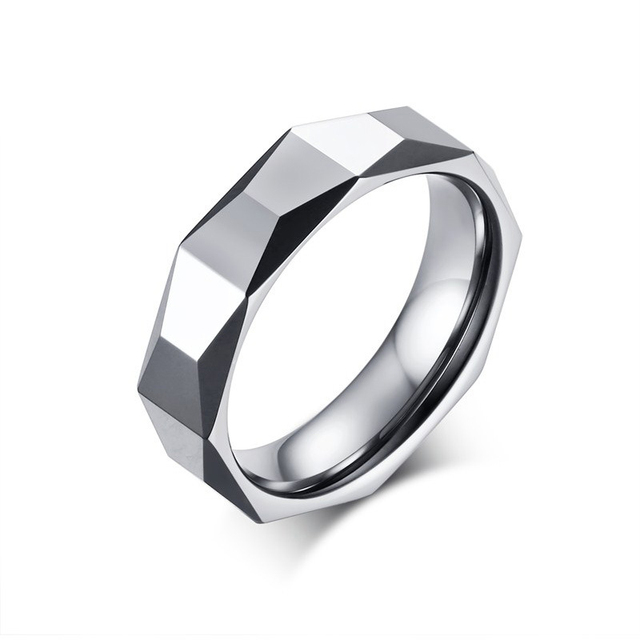 Fashion Simple Tungsten Carbide Rings 5.5MM High Quality Men's Finger Rings Punk Rock Wedding Band Motorbike Jewelry anillos