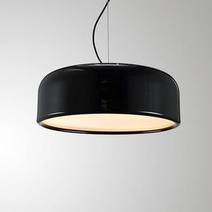 Image 4 - GZMJ Modern Metal LED Pendant Lights White/Black Nordic Brief LED Bedroom Hanging Lamp 90V 240V E27 Bulb Dining Room HangLamp