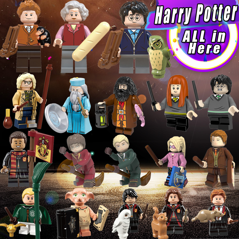 legoings technic Single Sale Harry Potter Hermione Granger Lord Voldemort Ron Draco Malfoy Building Blocks Bricks Toys figures