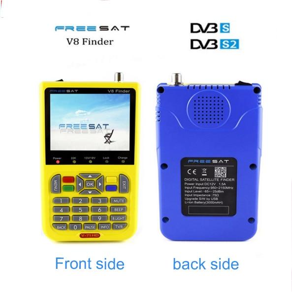freesat v8 finder 5pcs digital finder 3.5 inch LCD digital satFinder DVB-S2 MPEG-4 Free sat v8 satellite Finder satlink ws-6933