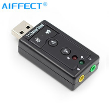 7.1 External USB Sound Card USB to Jack 3.5mm Headphone Audio Adapter Micphone Sound Card For Mac Win Compter Android Linux цена 2017