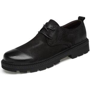 Image 2 - CLAX Mens עור נעלי עור אמיתי אביב סתיו מעצב גברים מקרית הליכה Footwar חורף פרווה Chaussure Homme בתוספת גודל