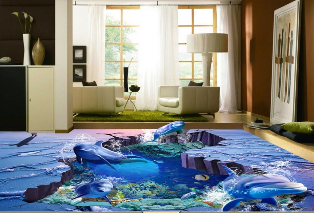 Wall papers Home Decor 3D Flooring Ice and Snow Ocean World Vinyl Flooring Bathroom For Living Room European Wallpaper