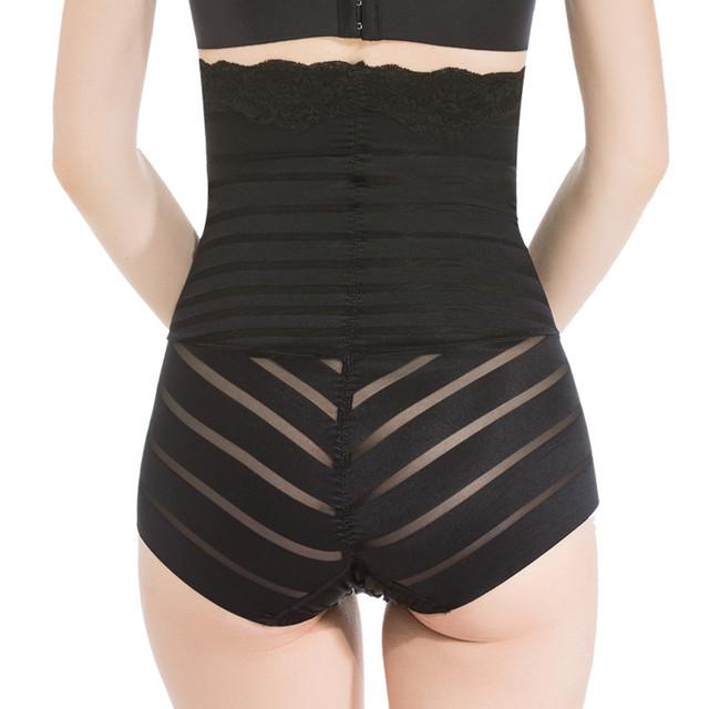 Sexy Seamless Striped Smooth High Waist Female Shapewear