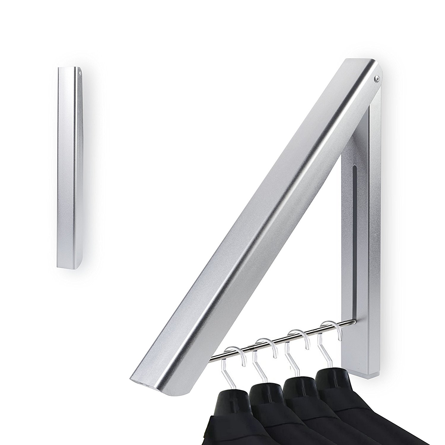 27kg Wall Mounted Clothes Airer Washing Line Coat Shirt Dryer Folding/Pull out Wall Hanger Space Saving Clothes Cupboard Storage