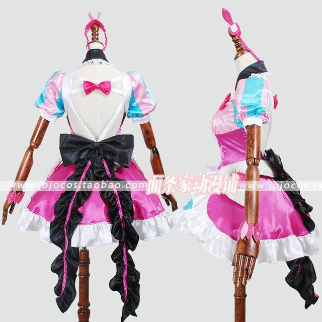 Disfraz de Cosplay de Navidad de Halloween al por menor/al por mayor de uniforme de Nakajima Delta de Macross con calcetines y lazos para el cabello