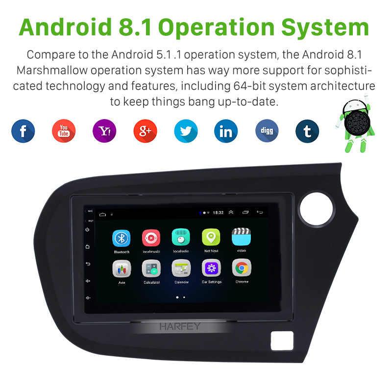Seicane 2din Android 8.1 voiture Auto stéréo GPS Navi unité lecteur pour Honda Insight 2009 2010 2011 2012 2013-2016 conduite à droite