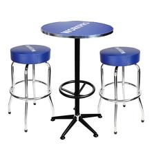 WORKPRO 3 шт. барные стулья и Настольный набор Высокое качество домашний гараж стальные табуреты стол